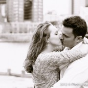 Pittsburgh Wedding and Portrait Photography by Photorise PNC Park Engagement Session - Kissing Profile